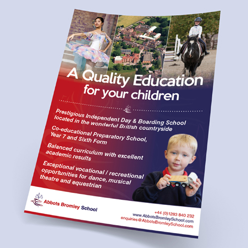 The Abbots Bromly School flyer