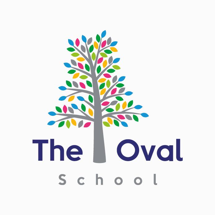 School Logo design of The Oval School.